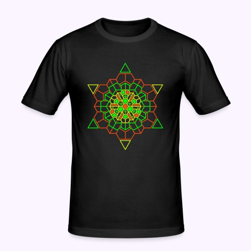 Cosmic Crystal 2-side print Slim Fit Shirt - Men's Slim Fit T-Shirt