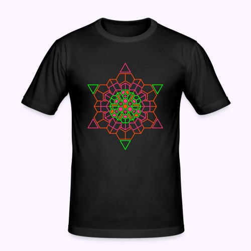 Cosmic Crystal Front print Slim Fit Shirt - Men's Slim Fit T-Shirt