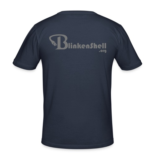 Blinkenshell-Basic - Men's Slim Fit T-Shirt