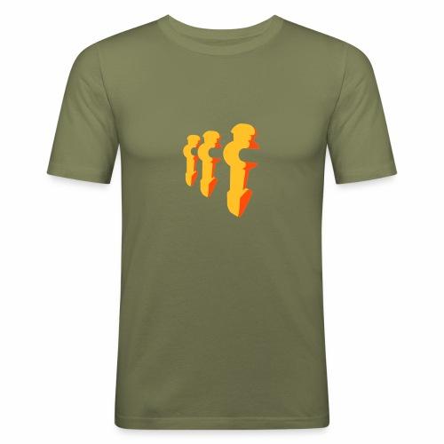Kickershirt - Männer Slim Fit T-Shirt