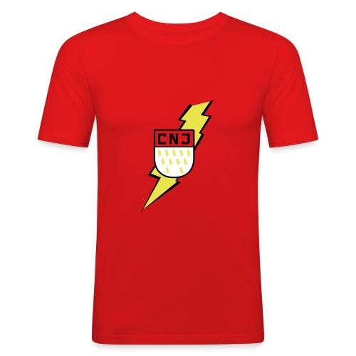 CNJ Blitz-Wappen Slimfit - Männer Slim Fit T-Shirt