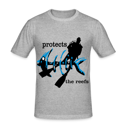 protects the reefs in the world - Männer Slim Fit T-Shirt