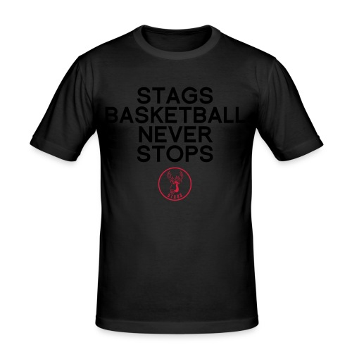 STAGS NEVER STOP - RED - Männer Slim Fit T-Shirt