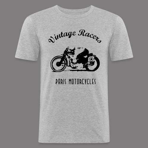 Classic Cafe Racer T-shirt White - T-shirt près du corps Homme