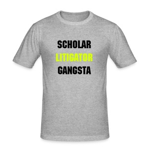 SCHOLAR LITIGATOR GANGSTA - Men's Slim Fit T-Shirt