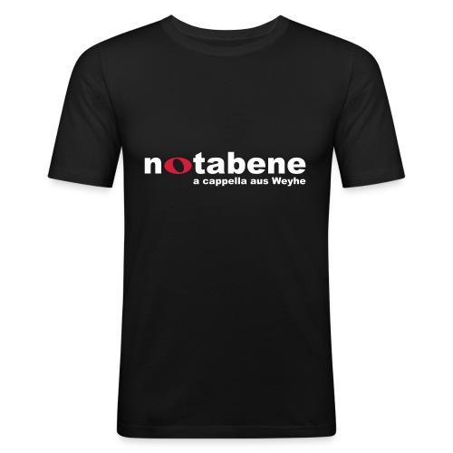 notabene Herren T-Shirt Slim Fit - Männer Slim Fit T-Shirt