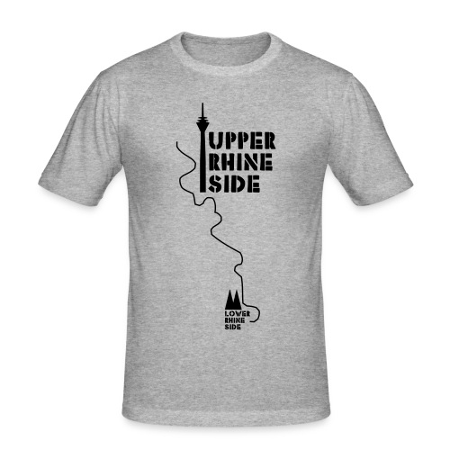 upper rhine side - Männer Slim Fit T-Shirt