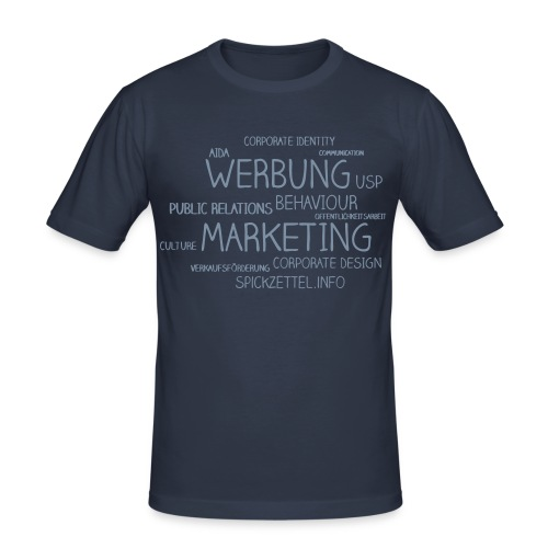 Marketing Cloud beidseitig - Männer Slim Fit T-Shirt