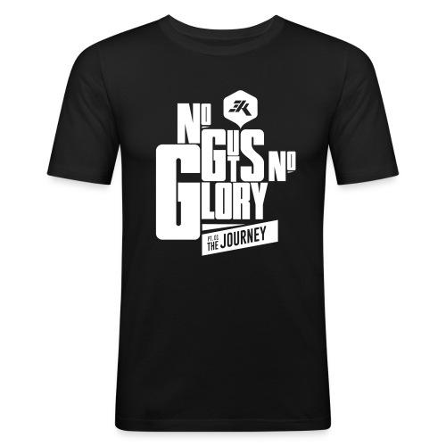 NGNG: WHITE / Black - Men's Slim Fit T-Shirt