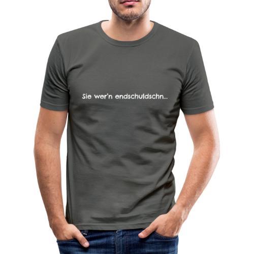 Sie wern endsch... - Männer Slim Fit T-Shirt
