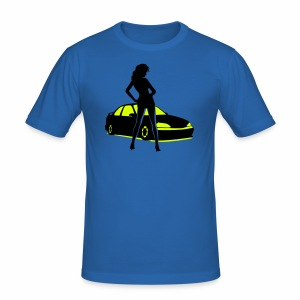 Car Tuning Girl (Coupe) - Männer Slim Fit T-Shirt
