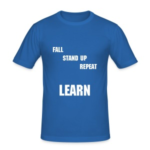 fall standup repeat learn - Männer Slim Fit T-Shirt