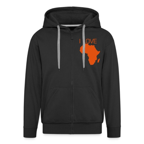 I LOVE AFRICA - Men's Premium Hooded Jacket