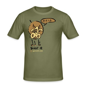 Blöde bunte Kuh Q - Männer Slim Fit T-Shirt