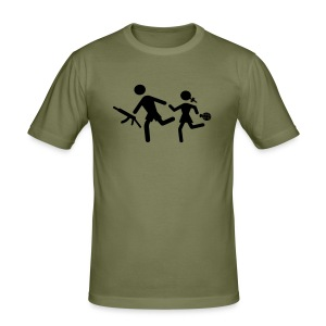 Anti child soldier T shirt - Men's Slim Fit T-Shirt