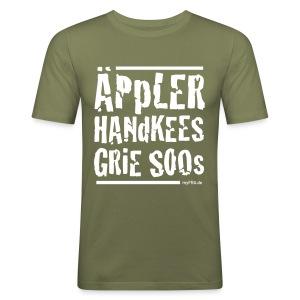 Äppler Handkees Grie Soos - Männer Slim Fit T-Shirt