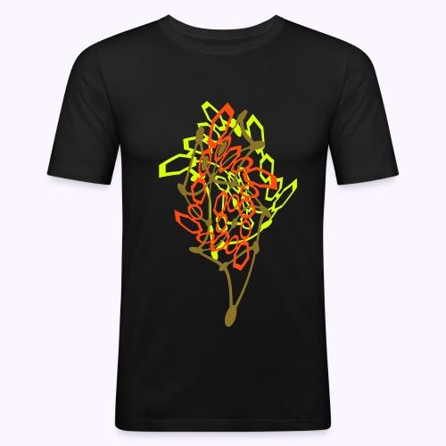 Neon Gamma Warp - Neon UV Active - Men's Slim Fit T-Shirt