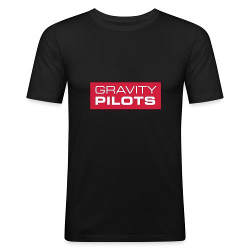 Männer Slim Fit T-Shirt - Männer Slim Fit black Motiv Logo