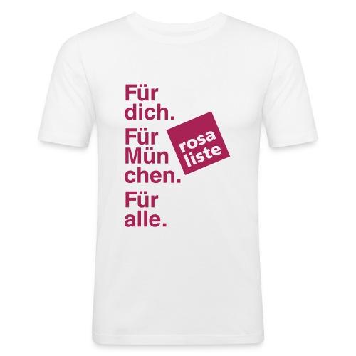 Men's Shirt (slim fit) - weiß - Männer Slim Fit T-Shirt