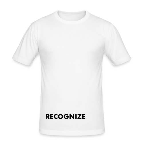 RECOGNIZE white slim fit tee - Men's Slim Fit T-Shirt