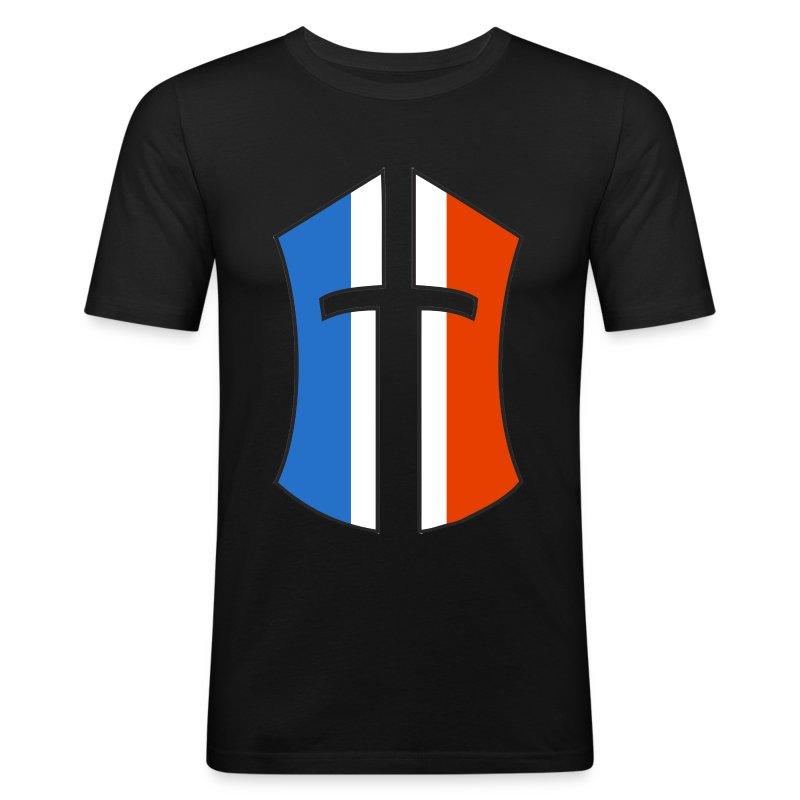 "T-SHIRT BoN ""FRANCE"" verso - Tee shirt près du corps Homme"