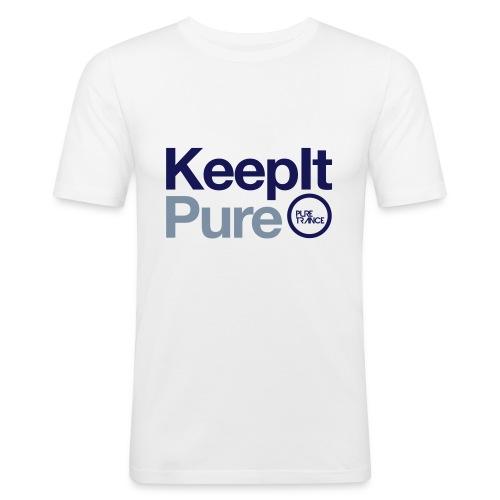 Keep It Pure Navy Blue/Silver Metallic [Male] - Men's Slim Fit T-Shirt