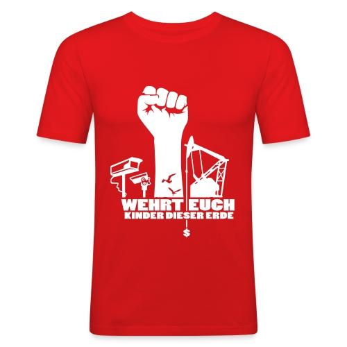 Wehrt Euch – Rot - Männer Slim Fit T-Shirt