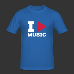 I Play Music - Men's Slim Fit T-Shirt