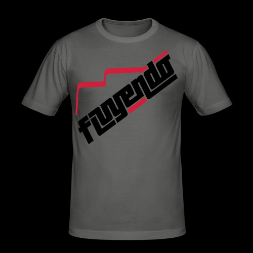 Fluyendo Big Logo Tee - Silver Lining - Men's Slim Fit T-Shirt