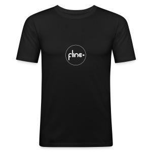 Slimfit Männer Logo Outline - Männer Slim Fit T-Shirt