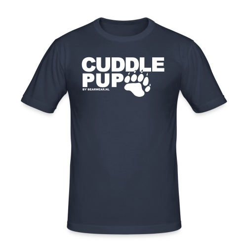 Cuddle Pup (slimfit) - Men's Slim Fit T-Shirt