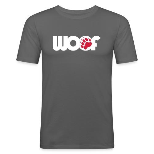 woof grey (slim fit) - Men's Slim Fit T-Shirt