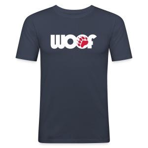 woof blue (slim fit) - Men's Slim Fit T-Shirt