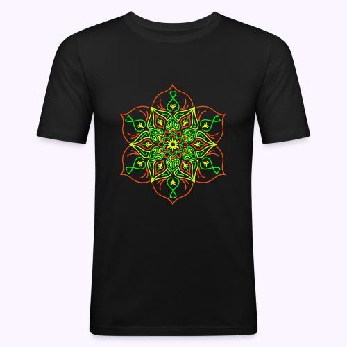 Fire Lotus Men's Slim Fit Shirt - Men's Slim Fit T-Shirt