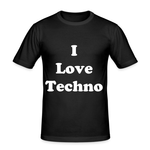 I Love Techno .. T-shirt - Männer Slim Fit T-Shirt
