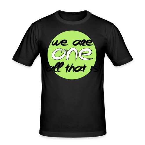 Herre slim fit T-shirt - We are ONE, all that is - Herre Slim Fit T-Shirt