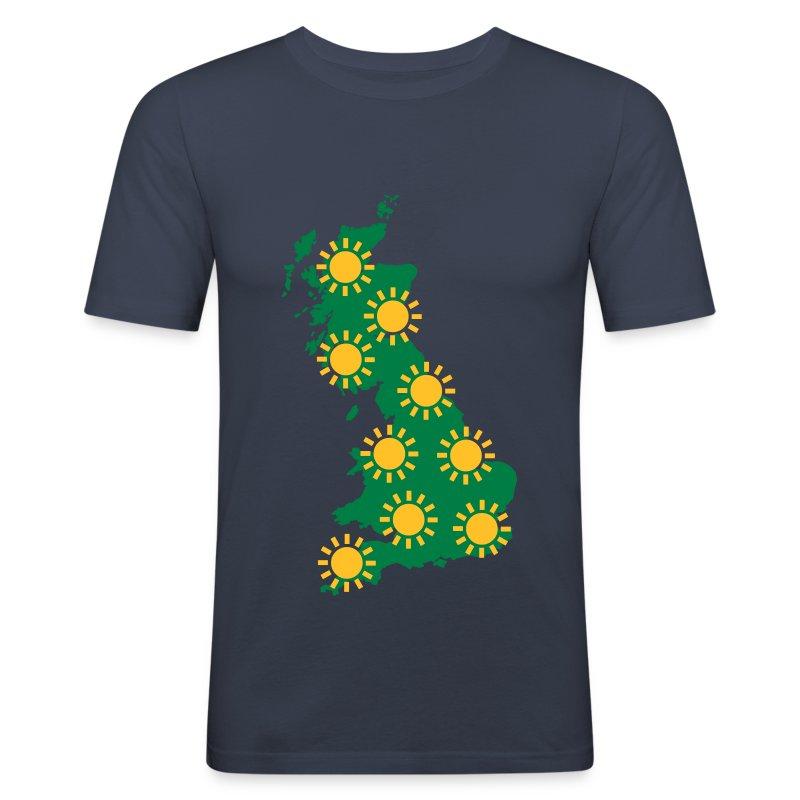 UK Weather Sunny - Men's Slim Fit T-Shirt
