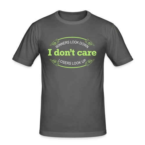 Herre slimfit T-shirt - Winners/Losers, I don't care - Herre Slim Fit T-Shirt