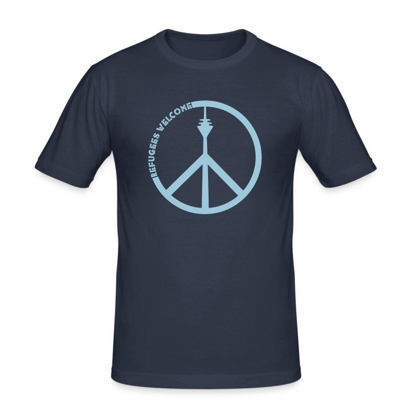 refugees welcome - Männer Slim Fit T-Shirt