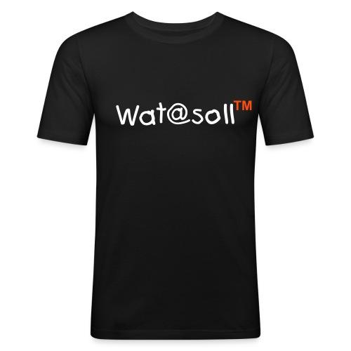 Wat@soll™ Slim Neonorange - Männer Slim Fit T-Shirt