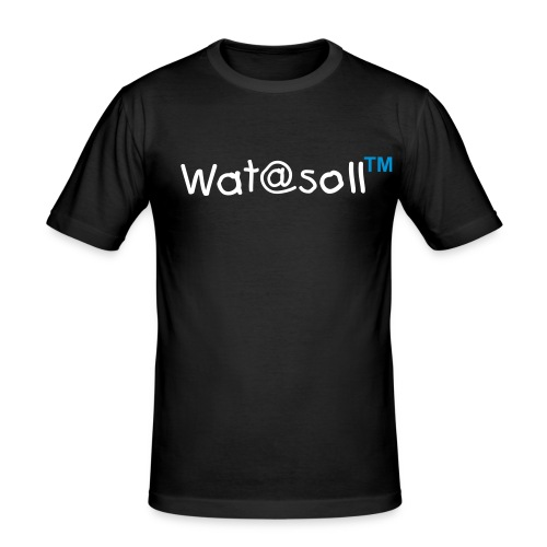 Wat@soll™ Slim Blue - Männer Slim Fit T-Shirt