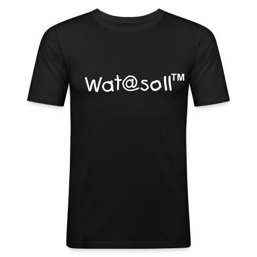 Wat@soll™ Slim White - Männer Slim Fit T-Shirt
