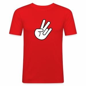 JDM Peace Hand 1c - Men's Slim Fit T-Shirt