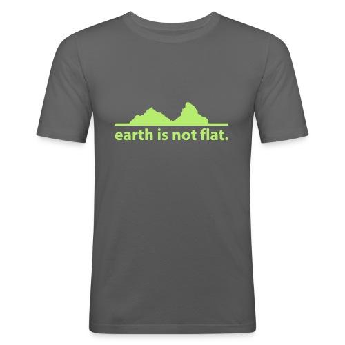 T-Shirt earth is not flat - Männer Slim Fit T-Shirt