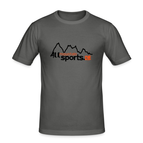 T-Shirt ALLmountainSPORTS.de - Männer Slim Fit T-Shirt