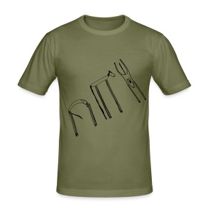 Funky Horses, Men´s Slim Fit Shirt ( Print:Black) - Männer Slim Fit T-Shirt
