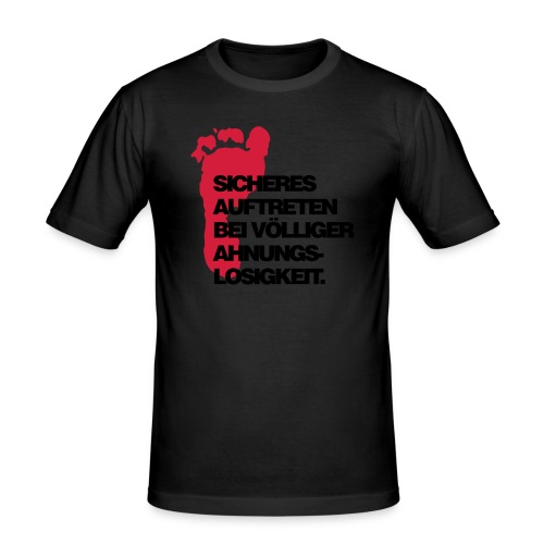 Sicheres Auftreten T-Shirt2 - Männer Slim Fit T-Shirt