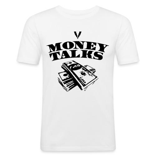 Money Talks Travolta Shirt - Männer Slim Fit T-Shirt