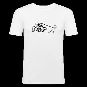 Drummers at work - Männer Slim Fit T-Shirt