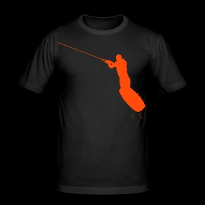 Wakeboarder in the Air - Men's Slim Fit T-Shirt